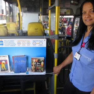 Cobradora Voluntária Projeto Cultura no Ônibus -